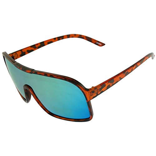 Shield Sunglasses with Gorgeous Iridescent Color Changing Mirrored Revo - Changing Colour Sunglasses