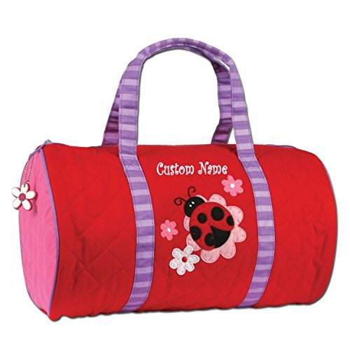 (Personalized Quilted Ladybug Duffel Bag, CUSTOM NAME)