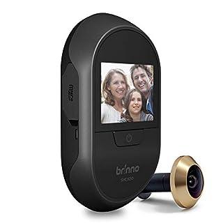 Brinno Peephole Camera Home SHC500 Security Long-Lasting Battery DIY Install LCD Screen Black - 12mm Size