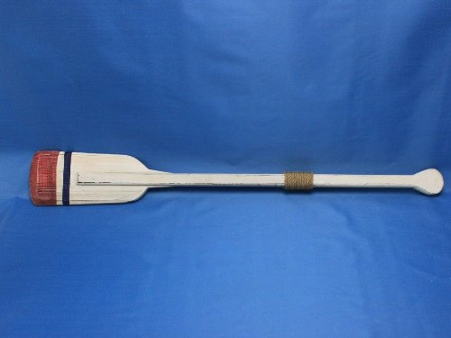 Hampton Nautical  Wooden Bristol Squared Rowing Oar with Hooks, 36'', Wood