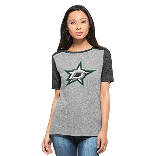 NHL Dallas Stars Women's '47 Empire Tee, Vintage Grey, Large -