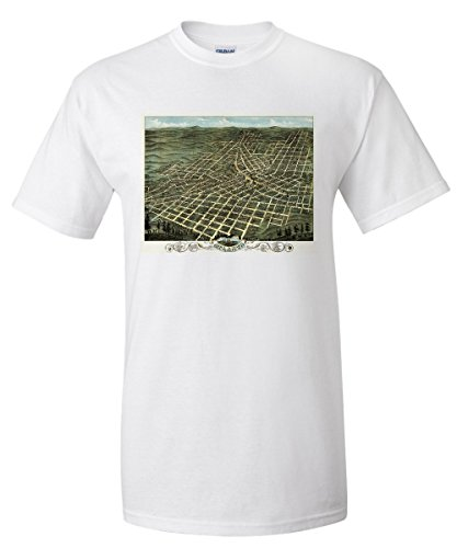 Atlanta, Georgia - (1871) - Panoramic Map (White T-Shirt XX-Large)