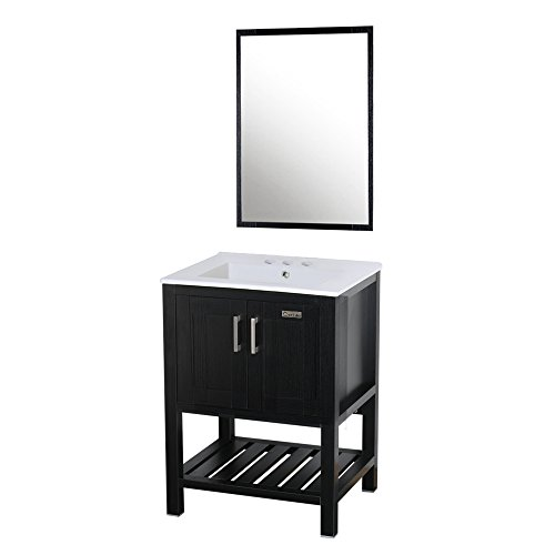 eclife Bathroom Vanity Sink Combo Modern MDF Stand Bathroom Cabinet 24