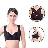 Lifemall Women Chest Brace Up Hunchback Posture Shape Corrector X Strap Vest (M, Black)