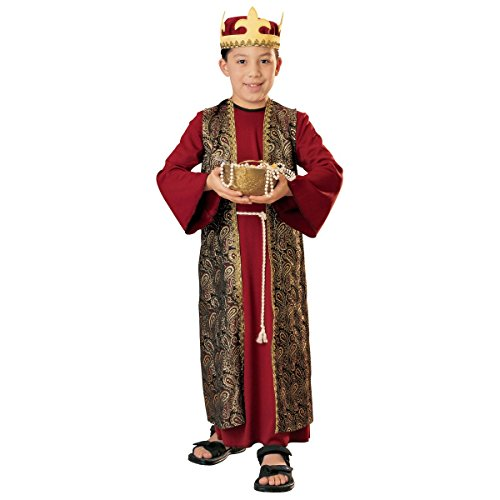Rubie's Three Wise Men Child Costume Gaspar (red with crown) - Large