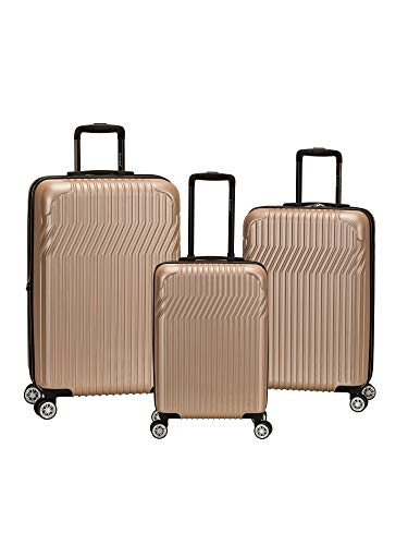 Rockland Pista 3 Piece Abs Non-Expandable Luggage Set, Champagne ()
