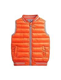 BESBOMIG Child Gilet Warm Down Waistcoat Sleeveless Jacket - Winter Vest Coats
