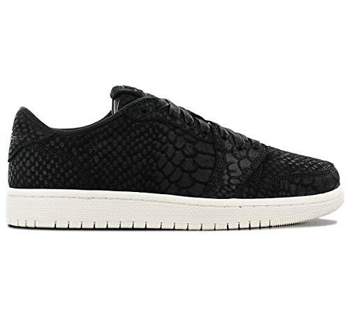 Jordan Women's Nike Retro 1 AJ Lo Sneakers-Black/Sail-9
