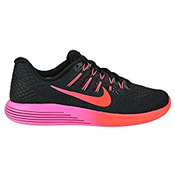 Nike Womens Lunarglide 8 Running Shoes, Blackmulti Colorred 8 U.s