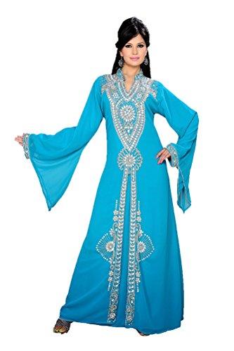 Tunika Caftan KKPF17282 PalasFashion Women's Bestickte Kleid Jilbab arabischen W48qwEYxtO