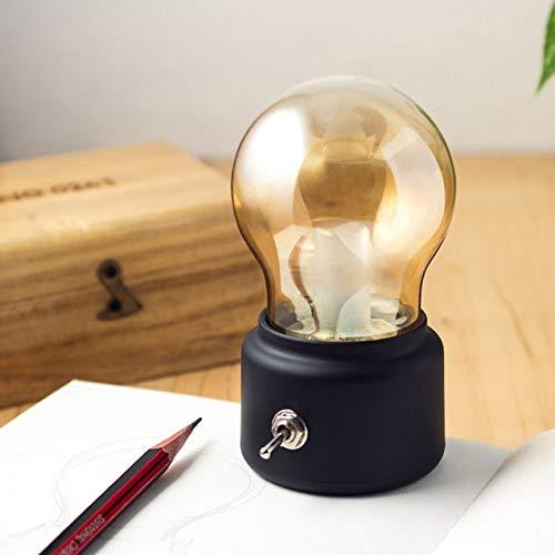 Peanutaoc Bombilla Vintage Luz Nocturna Mini USB de Carga LED L/ámpara de Mesa peque/ña Regalo de cumplea/ños Creativo L/ámpara de Escritorio Decorativa
