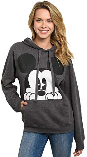 Disney Hoodie Mickey Mouse Peeking Pullover Sweatshirt