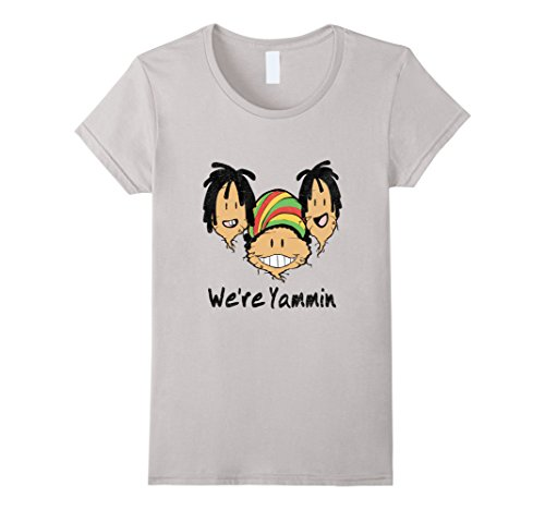 - Womens We're Yammin - Cheeky Tee's with a Twist Large Silver