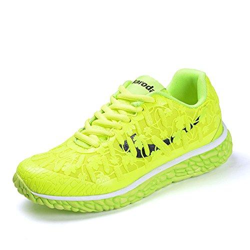 ご意見宿命マーガレットミッチェルSufoen 春夏 レディース 蛍光 スニーカー ランニングシューズ カジュアル靴 ウォーキング 学生 軽量 通気