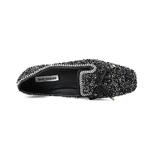 DGU00672 Noir 5 AN Noir Femme Compensées Sandales EU 36 SqxdwRA