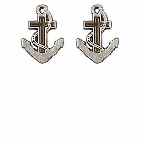 Hope Anchor Marineru0027s Cross Lapel Pins (2 Pins) Christian