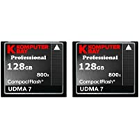 KOMPUTERBAY 2 PACK - 128GB Professional COMPACT FLASH CARD CF 800X 120MB/s Extreme Speed UDMA 7 RAW 128 GB