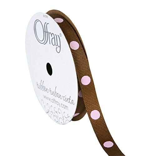 Offray Dippy Dots Ribbon, 3/8