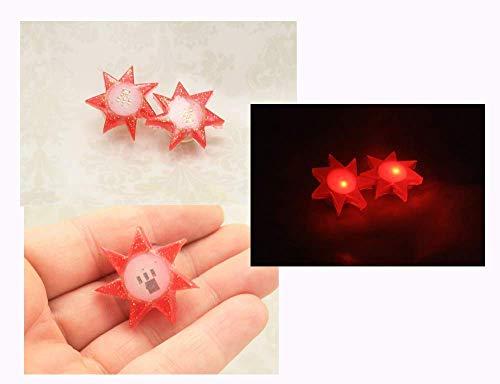 Jem Holograms Blinking Led Resin 1 Inch Star Earrings -