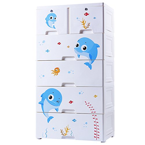 LF Gabinete de Almacenamiento de cajones de plástico Habitación de los niños Gabinete de Almacenamiento de Juguete Armario...