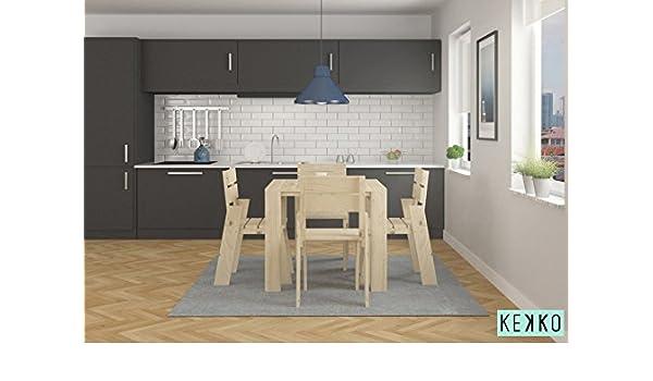 LUFE Mesa de Comedor con sillas (2 sillas): Amazon.es: Hogar