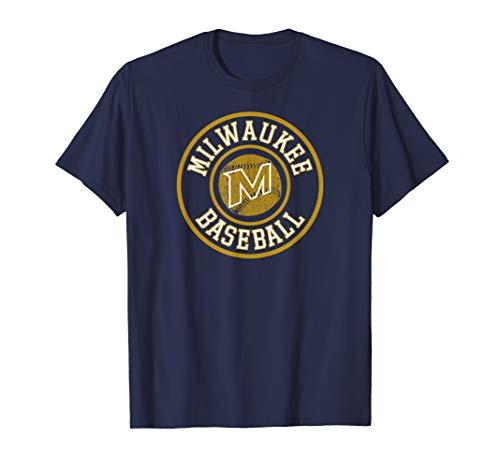 Milwaukee Baseball   Brewer Baseball Badge Retro Gift T-Shirt