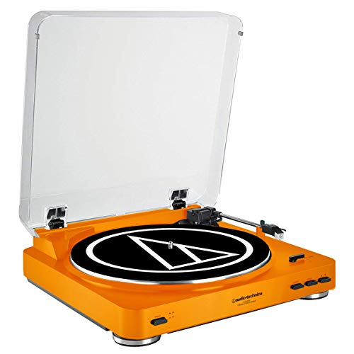 - Audio-Technica AT-LP60 Fully Automatic Belt-Drive Stereo Turntable, Orange