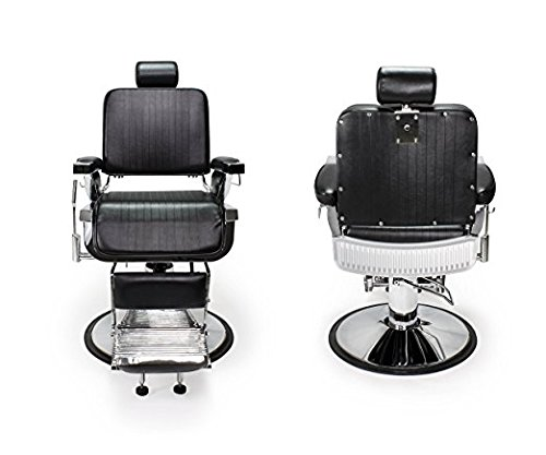 DUO 2 BLACK LINCOLN Barber Chairs Barbershop & Beauty Salon Furniture & Equipment by BERKELEY (Image #1)