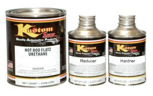 Hot Rod Black - Fast Reducer, Hot Rod Flatz by Custom Shop Urethane Automotive Flat Matte Car Paint, 1 Quart Kit