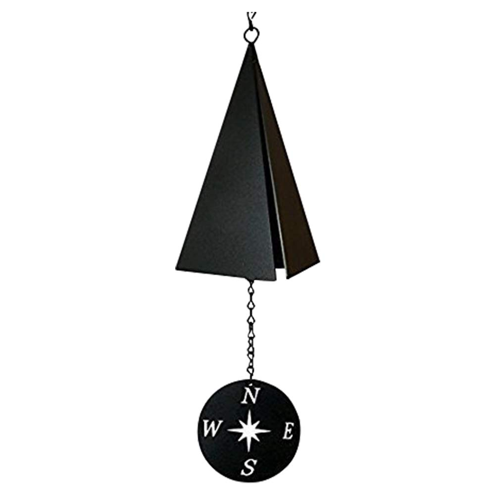 North Country Boothbay Harbor 3-Tone Wind Bell Chimes with Compass Rose — Unique Outdoor Wind Chime Catcher — Door Porch Garden Decorations Lawn Ornaments