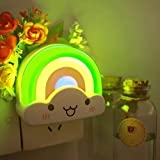 3 Pcs Kids Bedroom LED Colorful Rainbow Baby Night Light, Projector Girls Bedside Mood Lamp,best kids night light for baby room