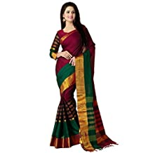 Women's Cotton Saree With Blouse Piece