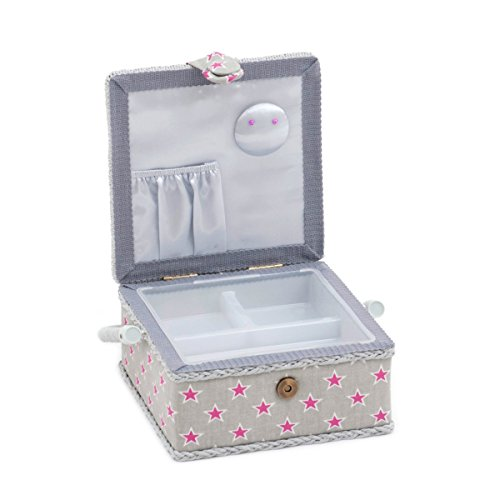 Hobby Gift 'Stars and Stripes' Small Square Sewing Box 20 x 20 x 11cm (d/w/h)