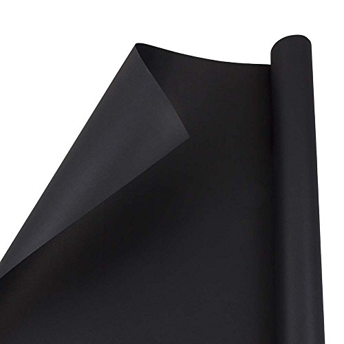 JAM PAPER Gift Wrap - Matte Wrapping Paper - 25 Sq Ft - Matte Black - Roll Sold Individually