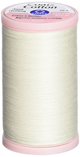 COATS & CLARK S980-8010 Hand Quilting Cotton Thread, 350-Yard, Natural ()