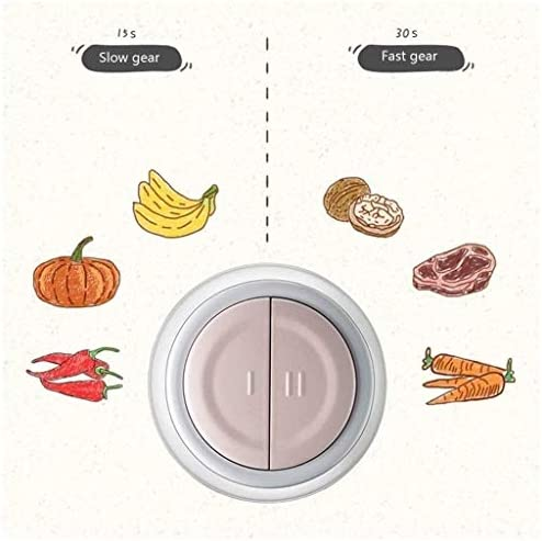 UNU_YAN Mini Hachoir de simplicité Moderne, Petit Robot culinaire électrique à 2 Vitesses for la Coupe de légumes