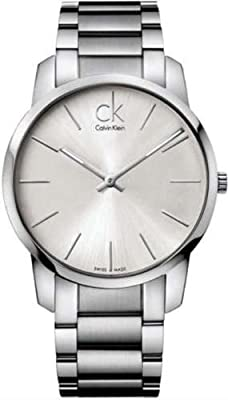 Calvin Klein K2G21126 Ck City Mens Watch - Silver Dial