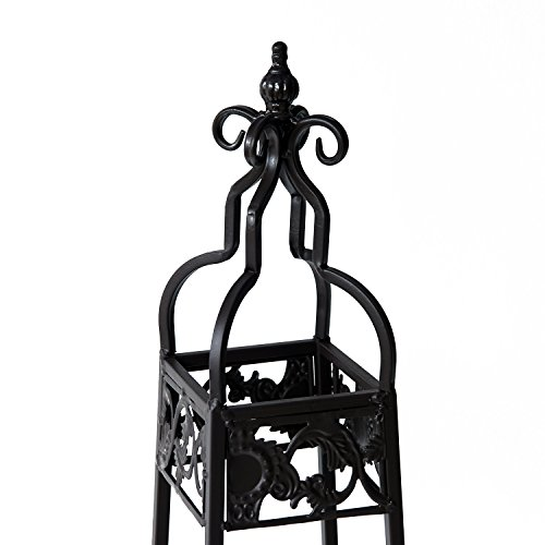 Outsunny 2 Piece Decorative Metal Corner Shelf Outdoor Plant Stand Towers For Your Corner