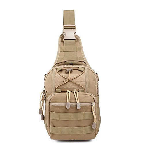 ry Outdoor Tactical Sport Pack Daypack Shoulder Backpack for Camping, Hiking, Trekking,Rover Sling Pack Chest Pack (KHAKI) (Baby Sling Khaki)