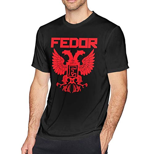 Hatpee Men's Cool Fedor Emelianenko Fighter Tee Black -