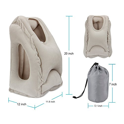homesky Inflatable Travel Pillow Airplane pillow, Travel Pillow, Traveling pillow, Airplane Neck Pillow, Travel Pillows for Airplanes for Fully Support, Fast Inflating Nap Pillow
