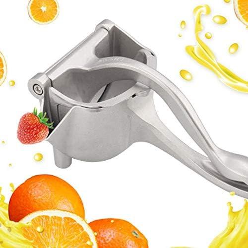 Bleyoum Exprimidor Manual Exprimidor Manual De Metal Plateado Exprimidor De Frutas Exprimidor De Jugo Exprimidor De Limón Y Naranja Prensa Exprimidor Multifuncional para El Hogar