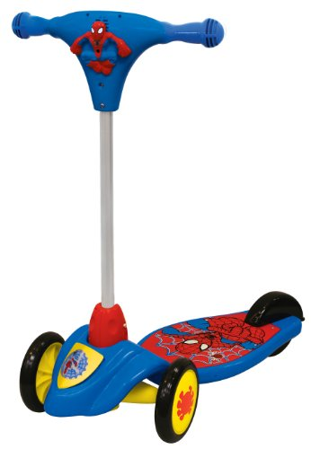 (Marvel Spiderman Foldable Scooter Ride On by Kiddieland)
