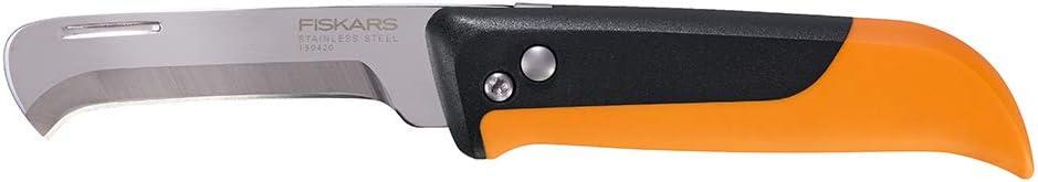 Fiskars 340140-1001 Folding Produce Harvesting Knife, Orange/Black