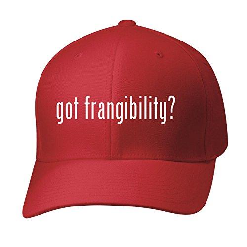 BH Cool Designs Got frangibility? - Baseball Hat Cap Adult, Red, Small/Medium