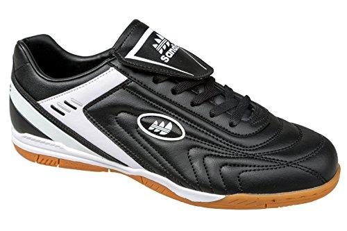 gibra - Zapatillas para deportes de interior de Material Sintético para hombre negro/blanco