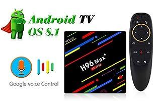 2018 H96 Max+ Smart Android 8.1 TV Box 4k 4gb Ram 64gb ROM Quad Core Support Voice Control Netflix Set Top Box