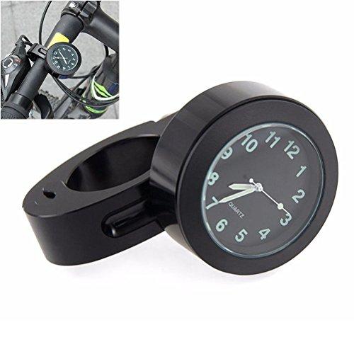 Mini Black Waterproof 7/8' Motorcycle Motorbike Handbar Mount Digital Clock