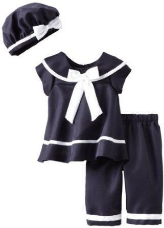 Nautical Capri Set with Hat (6 with Bracelet for Mom)