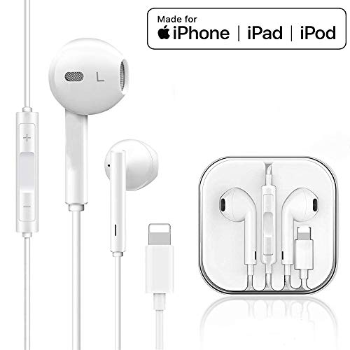 ZDAGO Stereo Headphones for iPhone/iPad, Headphones Wired with Mic & Volume Control, Earphones Compatible with iPhone11 Pro/11 X/XS/XS MAX/XR/8/8P/7/7P/iPad Pro/iPad Air/iPad